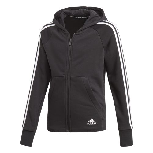 BLUZA JUNIOR ADIDAS MUST HAVES 3-STRIPES CZARNA DV0316