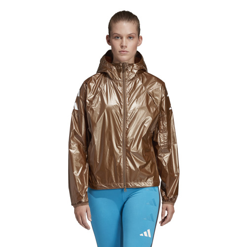 KURTKA DAMSKA ADIDAS THE PACK WND JACKET BRĄZOWA DP3862